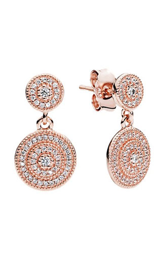 orecchini pandora oro rosa