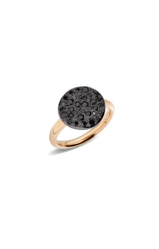 ANELLO SABBIA CON BRILLANTI BLACK