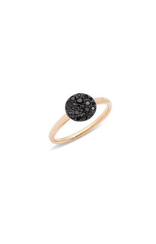 ANELLO SABBIA CON DIAMANTI BLACK